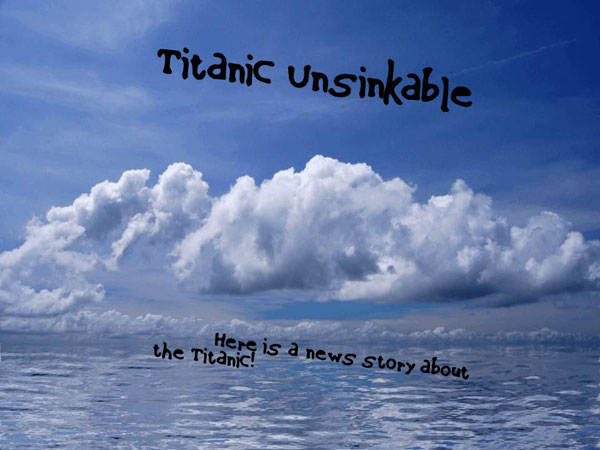 Titanic Unsinkable homeschool PowerPoint project