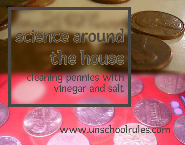 Cleaning pennies with household items