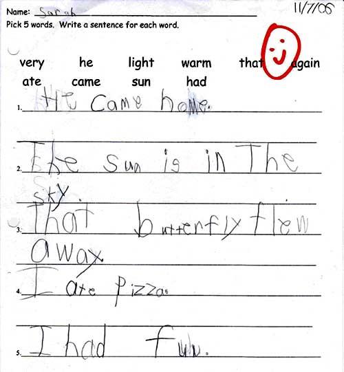 First-grade homework