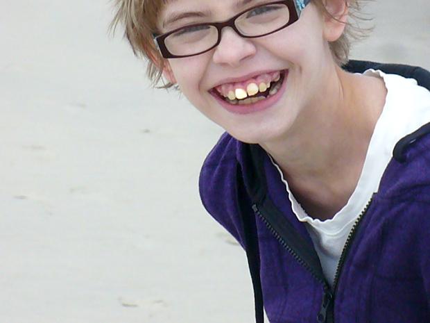 Happy on the beach