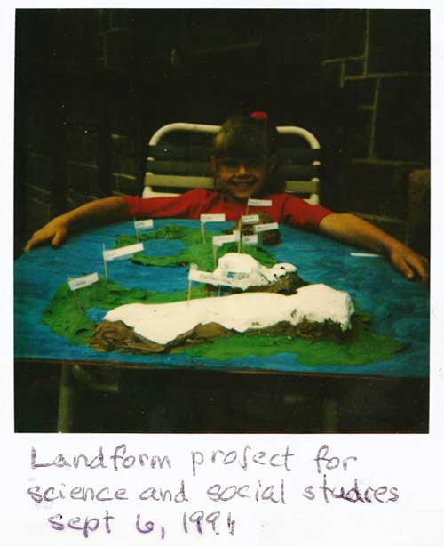 Huge model of landforms as a homeschooling project