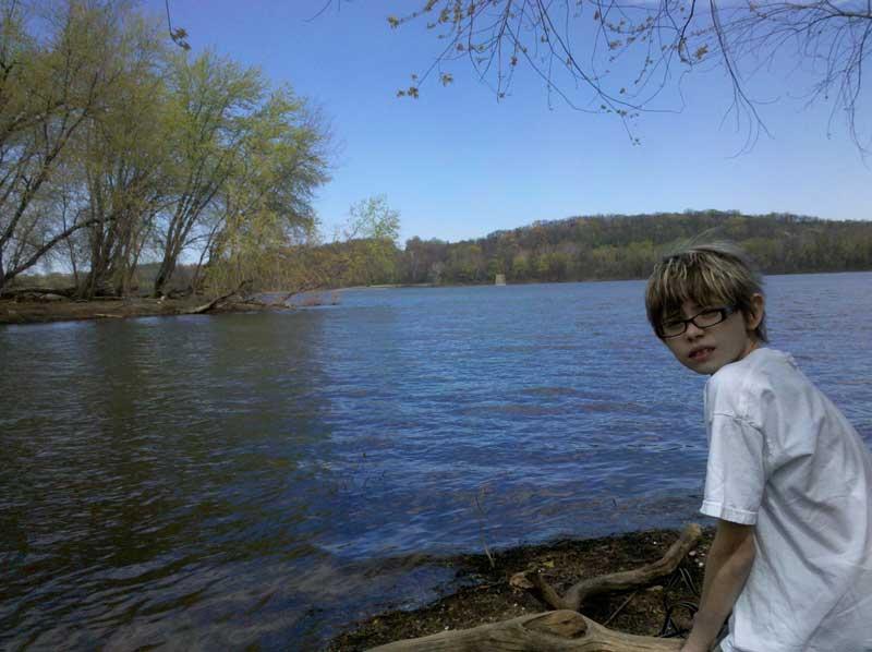 Ashar at the lake