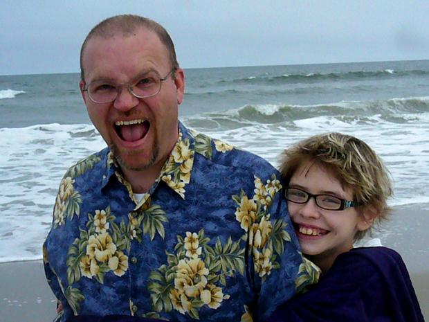 A wet hug on the beach