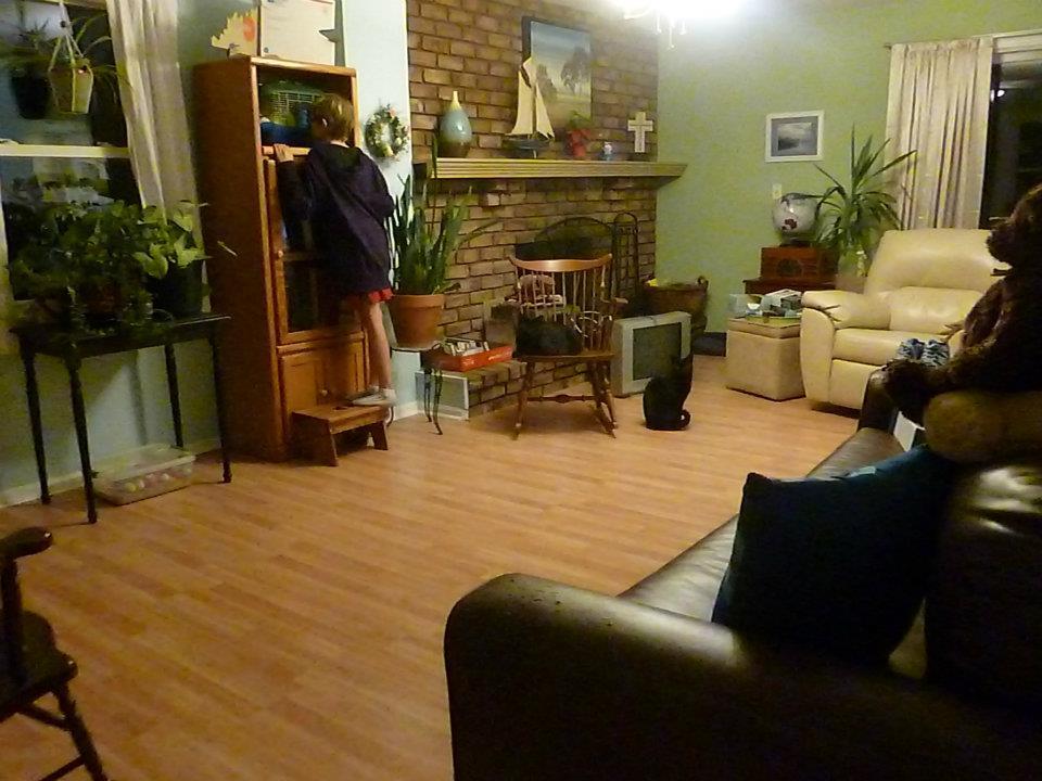 Homeschoolers' living room