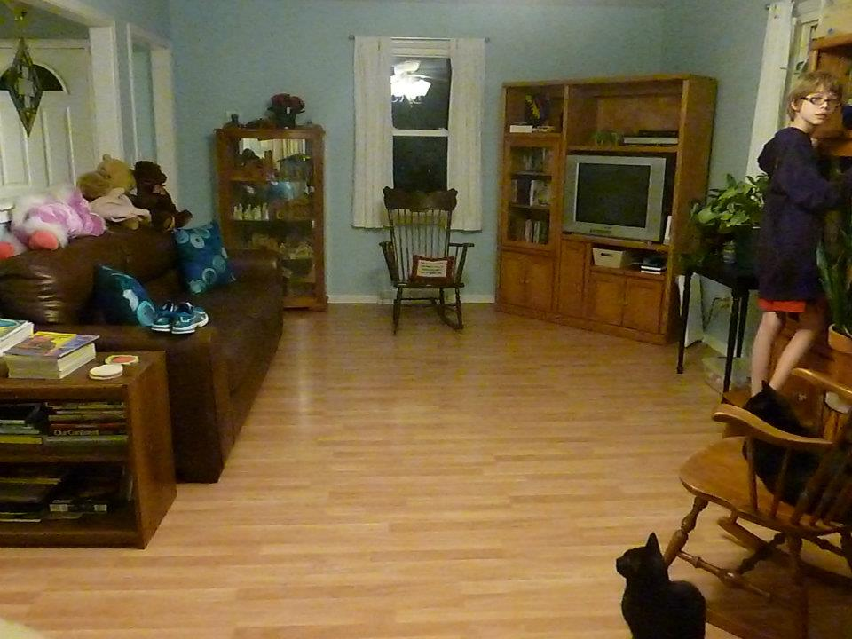 Homeschoolers' living room