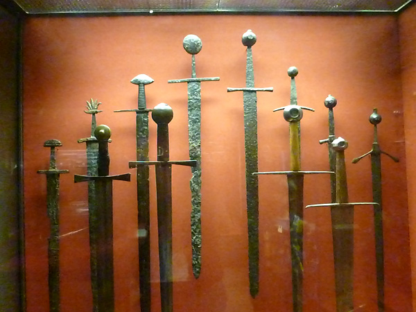 Old swords in the Arms and Armor collection at the Philadelphia Museum of Art