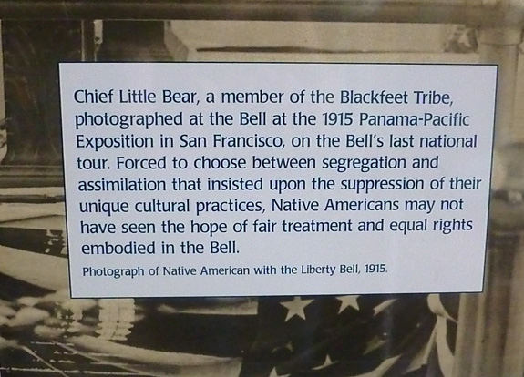 Little Bear information at the Liberty Bell