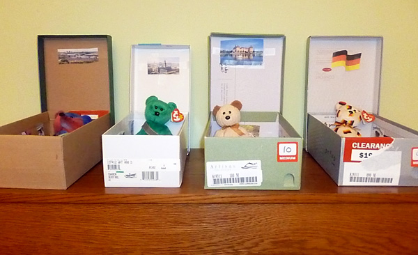 Making homes for Beanie Babies