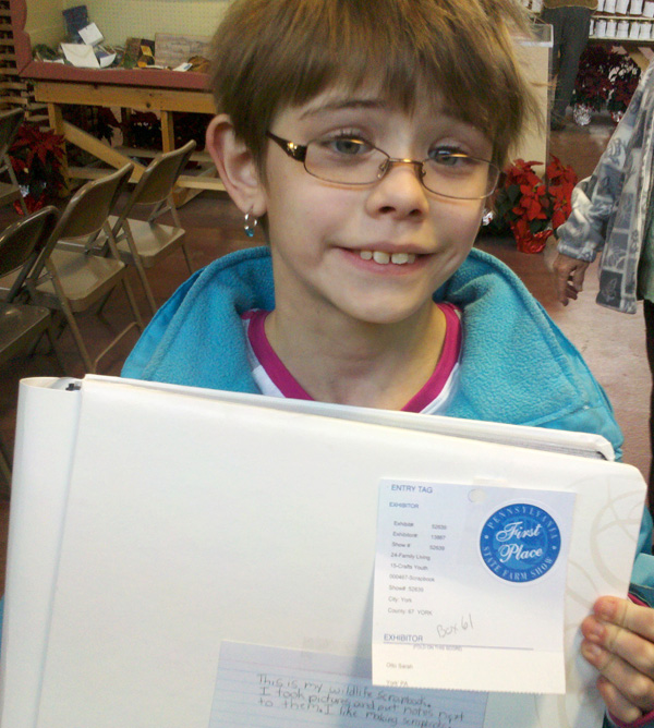 Winning wildlife scrapbook at the Pennsylvania Farm Show