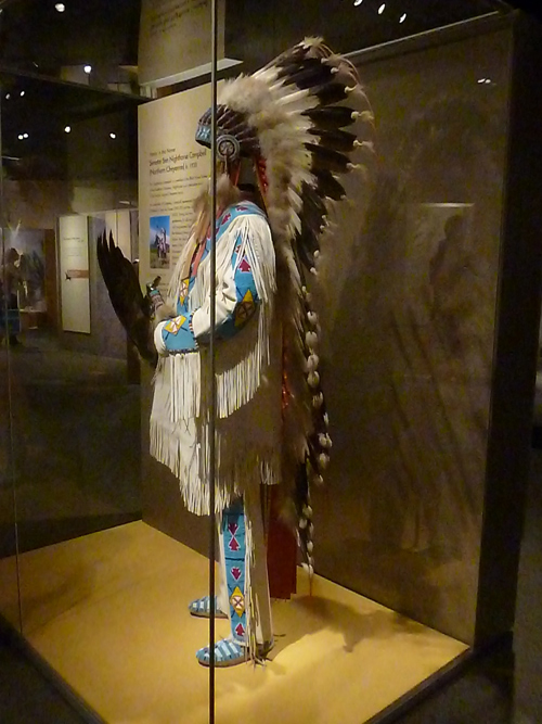 Native American headdress at the National Museum of the American Indian in Washington, D.C.