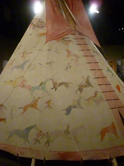 Native American painted tepee at the National Museum of the American Indian in Washington, D.C.