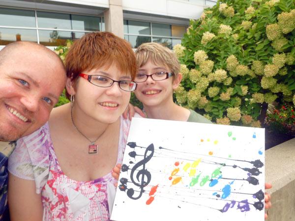 Family at Yorkfest Fine Arts Festival in York, PA