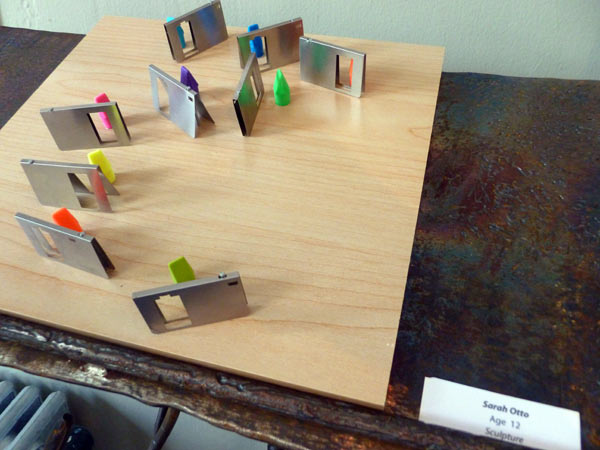 Teenager's sculpture from found materials entered in art show
