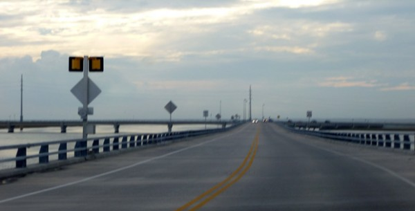 Intersection of bridges near Chincoteague, Virginia