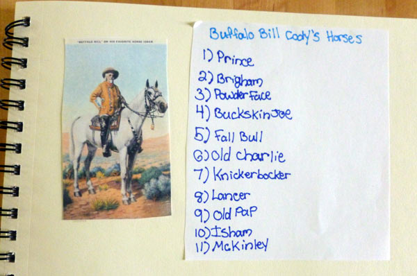 Information on Buffalo Bill Cody from homeschooling notebooking project