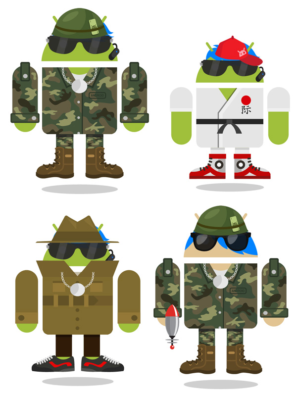 Androidify creations in costumes