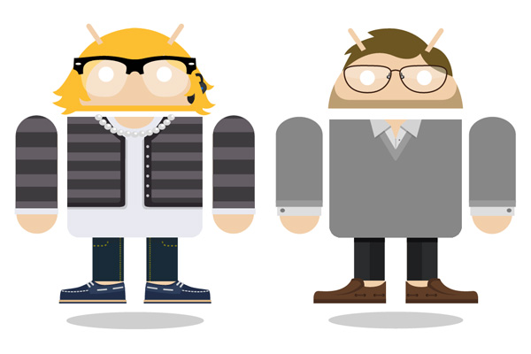 Androidify creations of family members