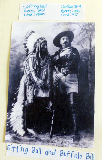 Information on Sitting Bull and Buffalo Bill Cody from a homeschooling notebooking project