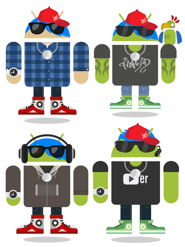 Androidify creations in urban styles
