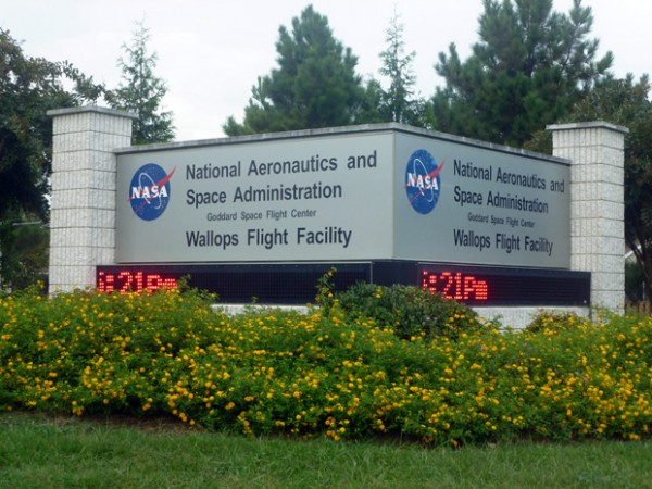 NASA Wallops Island Flight Facility main entrance sign