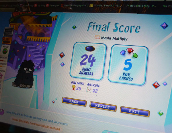 Multiplication facts practice with Moshi Monsters Moshi Multiply game