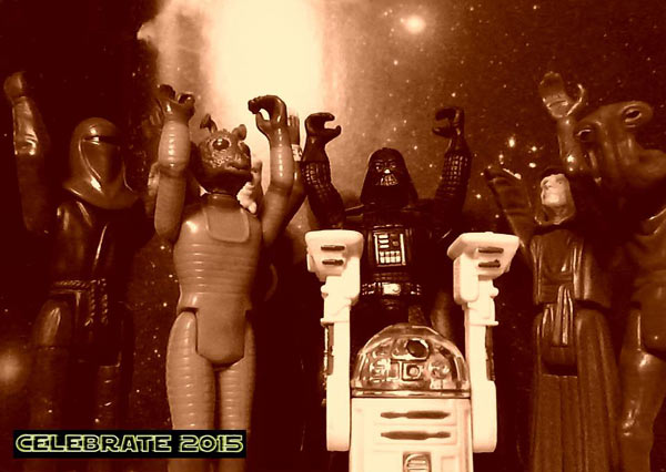 Star Wars toys from the 1970s celebrating the release of Episode 7 in 2015