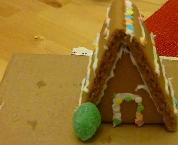A-frame gingerbread house from a kit