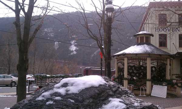 Winter in the town of Jim Thorpe, Pennsylvania
