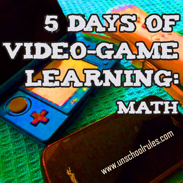 5 Days of Video-Game Learning series: Video games that teach math skills