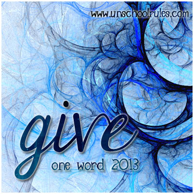 Give: A Word to Live By