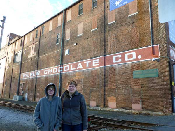 Visiting the Wilbur Chocolate store and museum in Lititz, Pennsylvania