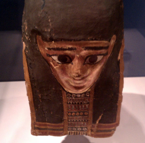 Mummy mask at the Reading Public Museum in Reading, Pennsylvania