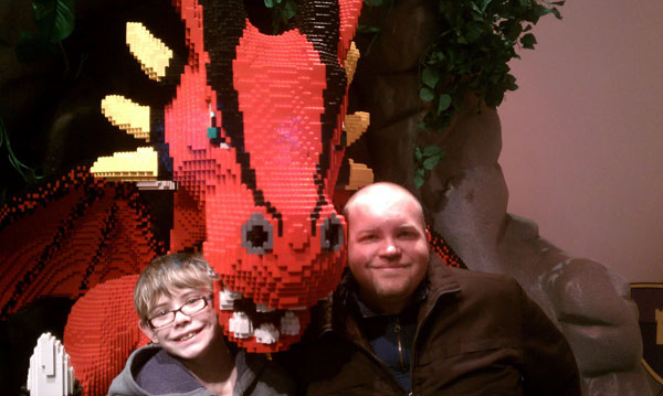 LEGO dragon at Reading Public Museum in Reading, Pennsylvania