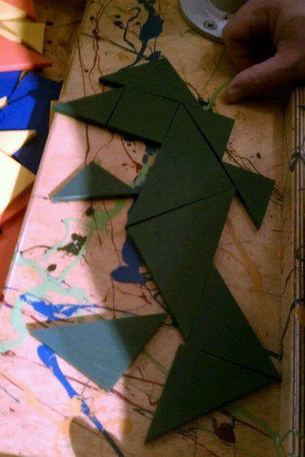 Tangram Godzilla at the Reading Public Museum