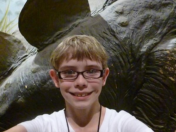 Stegosaurus selfie