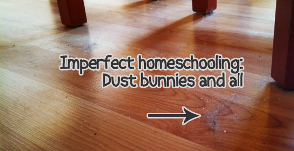 Imperfect homeschool: Dust bunnies and more