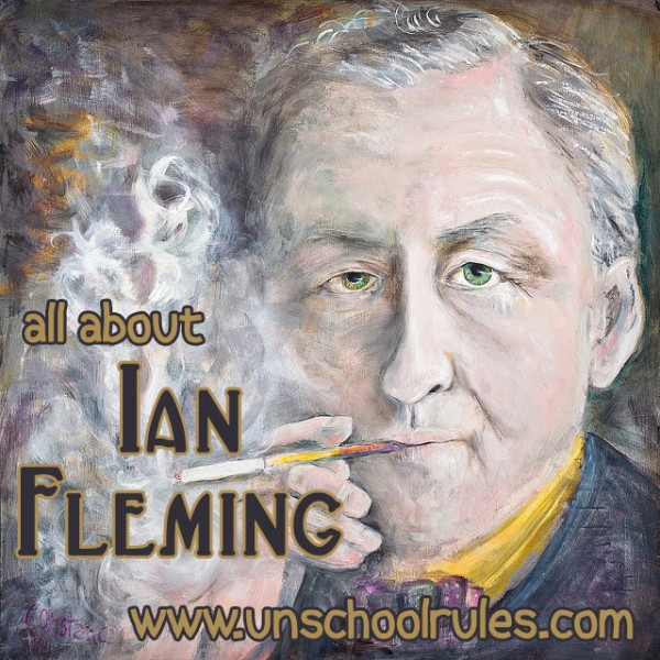 Unit study for homeschoolers about Ian Fleming, creator of James Bond and Chitty Chitty Bang Bang