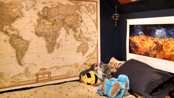 Gigantic map of the world mounted on foamboard