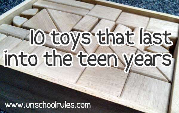 10 toys that last into the teen years, including Melissa and Doug wooden blocks