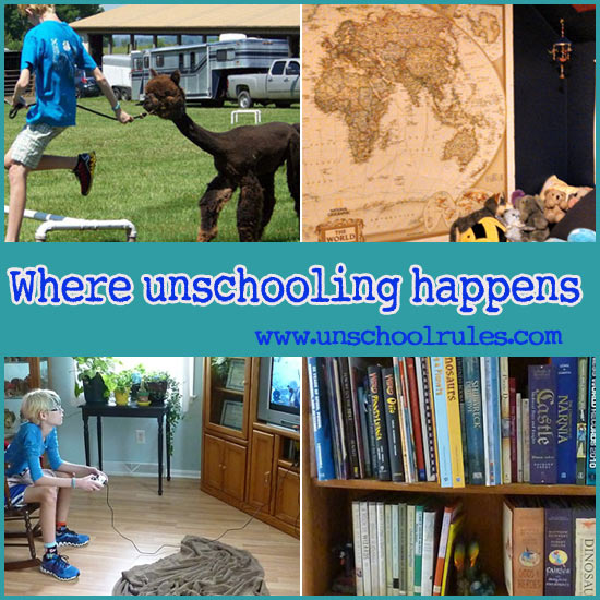 Unschooling learning spaces