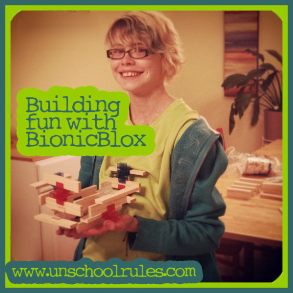 BionicBlox Brackitz natural wood building blocks