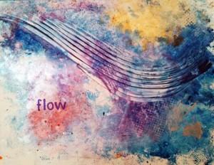 Flow, acrylic on yupo art by Joan Otto