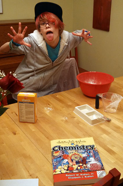 Fun with a Christian Kids Explore Chemistry experiment