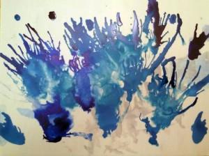 Jazz Bluebird, acrylic on yupo art by Ashar Otto
