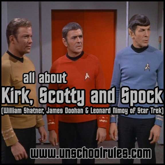 Learn about actors William Shatner, Leonard Nimoy and James Doohan of Star Trek fame in this brief study from Unschool Rules