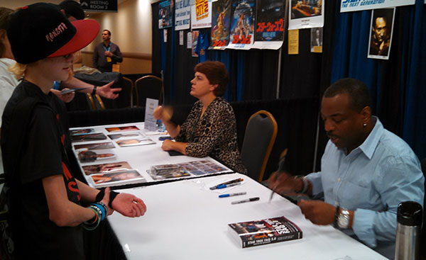 The actual reason we Pittsburgh'ed: to meet Levar Burton and get his autograph.