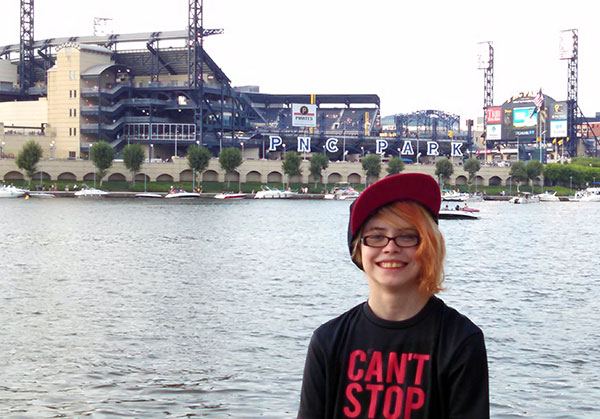 We went to Pittsburgh, and Sarah geeked out over the stadiums along the river.