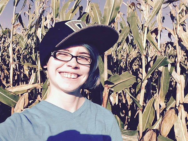 Ashar in the corn maze!