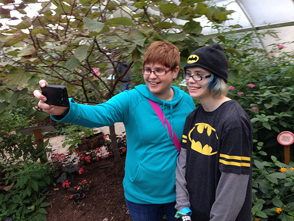 "A ""garden-variety"" selfie in the butterfly garden at Reptiland."