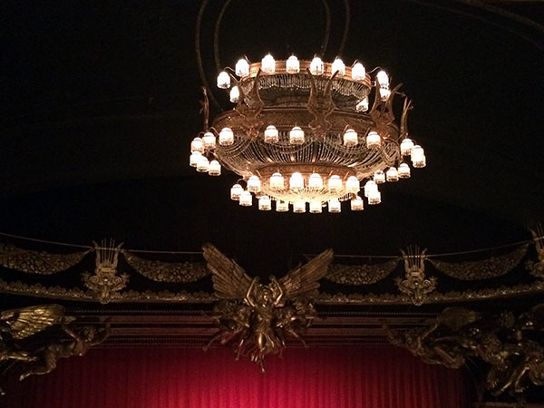 The stage setting for The Phantom of the Opera on Broadway was awesome!